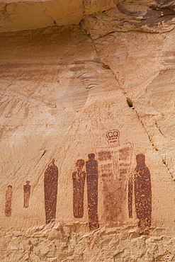Great Gallery Pictograph Panel, Barrier Canyon Style, Horseshoe Canyon, Canyonlands National Park, Utah, United States of America, North America