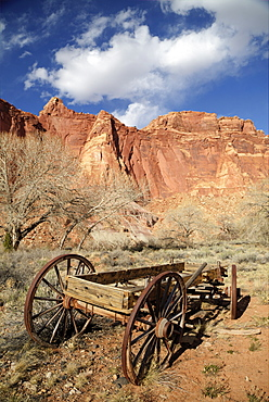 Mormon Pioneer Wagon, Capitol Reef National Park, Utah, United States of America, North America