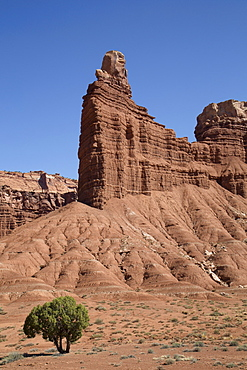 Layered sandstone formation, Capitol Reef National Park, Utah, United States of America, North America