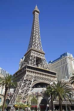 Reproduction of the Eiffel Tower, Paris Las Vegas Hotel and Casino, Las Vegas, Nevada, United States of America, North America