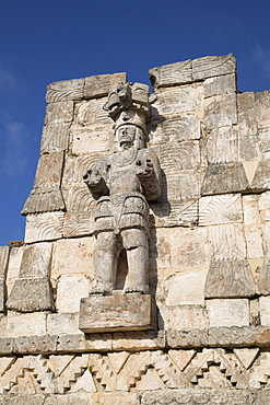 Atlantes figure, Palace of Masks, Kabah Archaelological Site, Yucatan, Mexico, North America