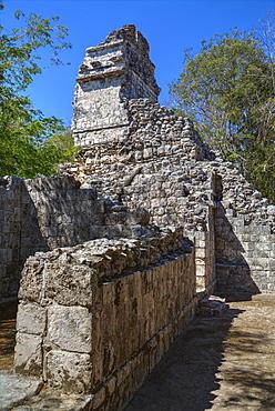 Structure VI, Hochob, Mayan archaeological site, Chenes style, Campeche, Mexico, North America