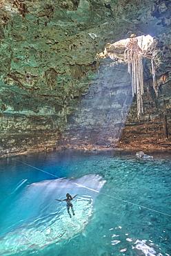 Cenote Samula, near Valladolid, Yucatan, Mexico, North America