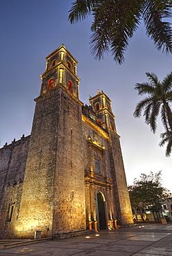 Cathedral de San Gervasio, completed in 1570, Valladolid, Yucatan, Mexico, North America