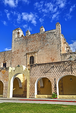 Church of San Bernadino de Siena and Convent of Sisal, founded in 1552, Valladolid, Yucatan, Mexico, North America