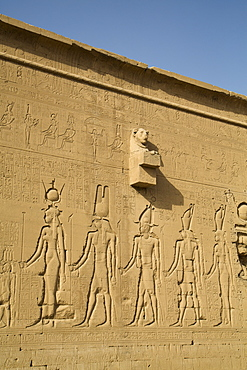 Exterior reliefs, Temple of Hathor, Dendera, Egypt, North Africa, Africa