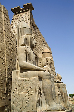 Colossi of Ramses II, Luxor Temple, Luxor, Thebes, UNESCO World Heritage Site, Egypt, North Africa, Africa