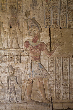 Bas-reliefs inside the Temple of Opet, Karnak Temple, Luxor, Thebes, UNESCO World Heritage Site, Egypt, North Africa, Africa