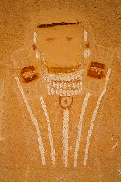 Five Faces Pictograph, Anthropomorph images 700 to 1000 years old, Davis Canyon, Canyonlands National Park, Utah, United States of America, North America