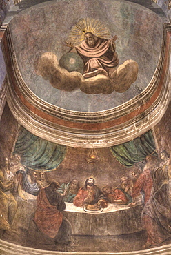 Last Supper Fresco, St. Nicholas Cathedral, UNESCO World Heritage Site, Veliky Novgorod, Novgorod Oblast, Russia, Europe