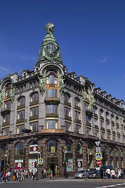 The Singer Building, UNESCO World Heritage Site, St. Petersburg, Russia, Europe