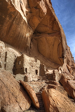 River House Ruin, Ancestral Puebloan Cliff Dwelling, 900-1300 AD, Shash Jaa National Monument, Utah, United States of America, North America