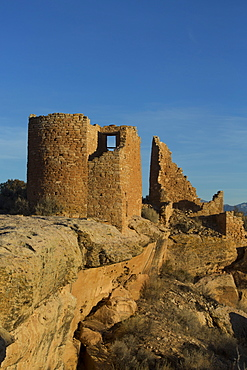 Hovenweep Castle in late afternoon, Ancestral Pueblo, Hovenweep National Monument, Utah, United States of America, North America