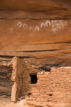 Reverse Handprints, Ancestral Pueblo, up to 1000 years old, Lower Fish Creek, Bears Ears National Monument, Utah, United States of America, North America