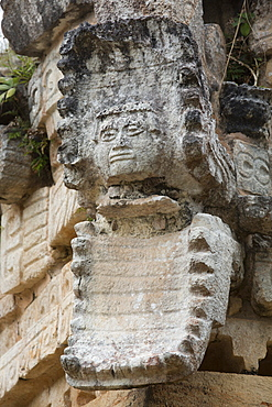 Serpent Mouth, with Human Mask, Palace, Labna Archaeological Site, Mayan Ruins, Puuc style, Yucatan, Mexico, North America