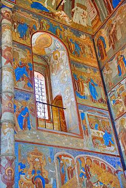 Frescoes, Resurrection of Christ Gate Church, Kremlin, Rostov Veliky, Golden Ring, Yarsolavl Oblast, Russia, Europe