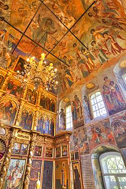 Frescoes, Church of Prince Demitry the Martyr, Uglich, Golden Ring, Yaroslavl Oblast, Russia, Europe
