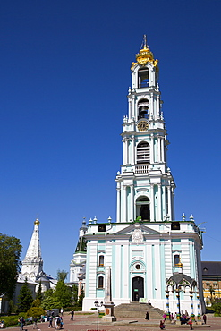 Bell Tower, The Holy Trinity Saint Sergius Lavra, UNESCO World Heritage Site, Sergiev Posad, Russia, Europe