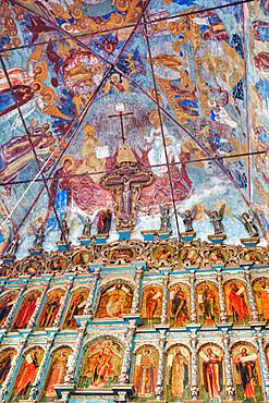 Frescoes, Church of Epiphany, UNESCO World Heritage Site, Yaroslavl, Yaroslavl Oblast, Russia
