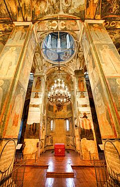Frescoes, Transfiguration Cathedral, Spassky Monastery, UNESCO Site, Yaroslavl, Golden Ring, Yaroslavl Oblast, Russia