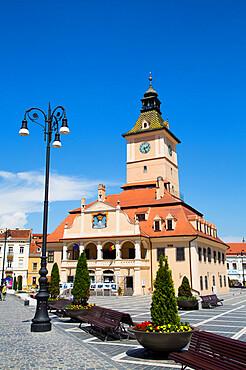 ClocK Tower, Town Hall, 13th Century, Piata Sfatului (Council Square), Brasov, Transylvania Region, Romania