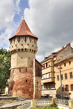 Tower of the Carpenters, Sibiu, Transylvania Region, Romania, Europe