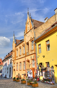 Medieval Buildings, Sighisoara, UNESCO World Heritage Site, Mures County, Transylvania Region, Romania, Europe