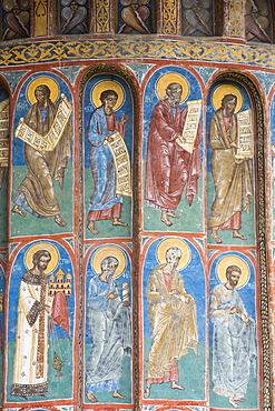 Exterior Frescoes, Voronet Monastery, 1487, UNESCO World Heritage Site, Gura Humorului, Suceava County, Romania, Europe