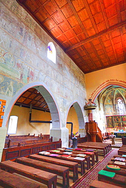 Interior, Malancrav Fortified Church, 14th century, Malancrav, Sibiu County, Romania, Europe