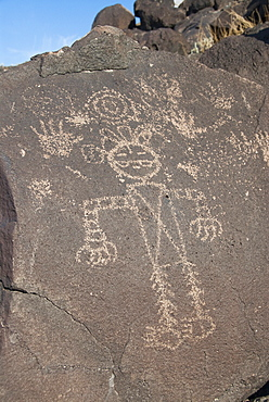 Petroglyph National Monument, petroglyphs carved into volcanic rock by American Indians 400 to 700 years ago, New Mexico, United States of America, North America