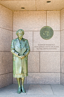 Statue of former first lady Eleanor Roosevelt at the Franklin D. Roosevelt Memorial in Washington, D.C., United States of America, North America