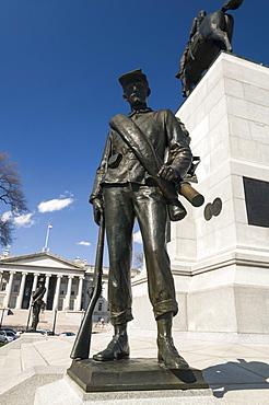 William Tecumseh Sherman monument in Sherman Square in Washington, D.C., United States of America, North America