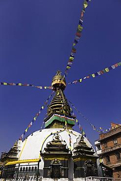 Shree Gha Buddhist Stupa, Thamel, Kathmandu, Nepal, Asia