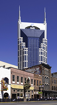 The AT&T Building, locally known as the Batman Building in Nashville, Tennessee, United States of America, North America - 803-284