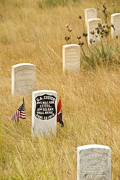Memorial to General George Custer at the Little Bighorn Battlefiled National Monument, Montana, United States of America, North America