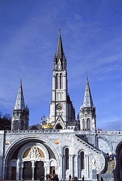 The Basilica, Lourdes, Hautes-Pyrenees, France, Europe
