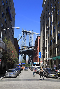 Manhattan Bridge, DUMBO, Brooklyn, New York City, United States of America, North America