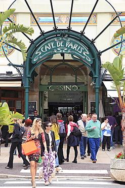 Cafe de Paris, Casino Entrance, Monte Carlo, Monaco, Cote d'Azur, Mediterranean, Europe