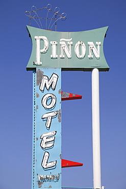 Motel, Retro Sign, Route 66, Central Avenue, Albuquerque, New Mexico, United States of America, North America