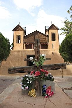 Santuario de Chimayo, Lourdes of America, Church, Chapel, Religious Pilgrimage Site, Chimayo, New Mexico, United States of America, North America