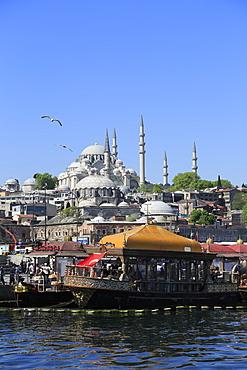 Old City, Suleymaniye Mosque, Eminonu, Golden Horn, Bosphorus, Istanbul, Turkey, Europe