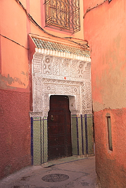 Ornate door, Old City, Medina, UNESCO World Heritage Site, Marrakesh (Marrakech), Morocco, North Africa, Africa