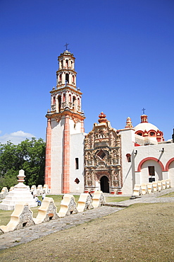 Tilaco Mission, UNESCO World Heritage Site, one of five Sierra Gorda missions designed by Franciscan Fray Junipero Serra, QuerŽtaro, Mexico, North America