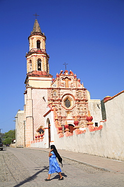 Tancoyol Mission, UNESCO World Heritage Site, one of five Sierra Gorda missions designed by Franciscan Fray Junipero Serra, QuerŽtaro, Mexico, North America