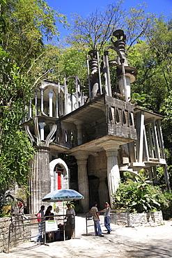 Entrance to Las Pozas, the pools, surrealist sculpture garden and architecture created by Edward James an eccentric English aristocrat, Xilitla, San Luis Potosi state, Mexico, North America