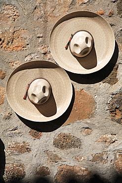 Cowboy Hats, Patzcuaro, Michoacan State, Mexico, North America
