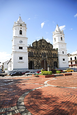 Catedral de Nuestra Senora de la Asuncion, Casco Antiguo, Casco Antiguo, San Felipe District, Old City, Panama City, Panama, Central America