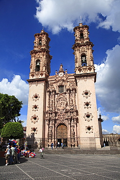 Santa Prisca Church, Plaza Borda, Taxco, Guerrero State, Mexico, North America