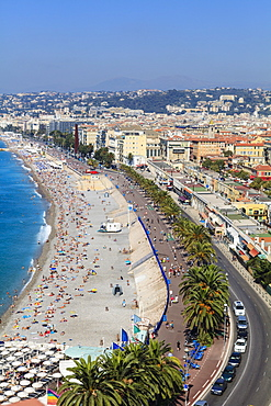 Baie des Anges and Promenade Anglais, Nice, Alpes Maritimes, Provence, Cote d'Azur, French Riviera, France, Mediterranean, Europe