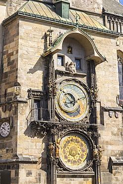 Astronomical Clock, Old Town Hall, UNESCO World Heritage Site, Prague, Czech Republic, Europe